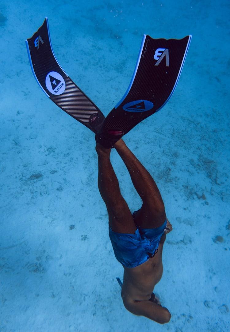 basic freediving training session